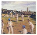 Lancashire: CRICKET MATCH. Old Vintage Print.1983. Lancs
